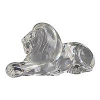 Steuben Crystal Recumbent Lion Sculpture