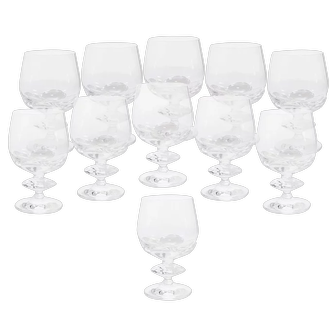 Set of 11 Lalique Wine Glasses