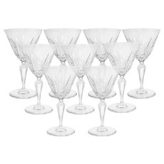 Set of 9 Baccarat Austerlitz Water Goblets