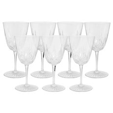 Set of 7 Baccarat Epron Water Goblets