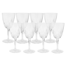 Set of 8 Baccarat Epron Wine Goblets