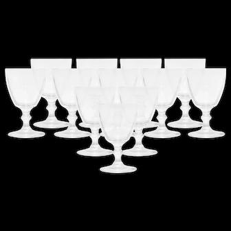 Steuben Wine Glasses Pattern 6268- set of 12