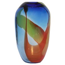 Leon Applebaum Modernist Glass Art Vase