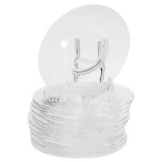 Set of 12 Steuben Clear Glass Plates