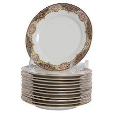 Set of 10 Limoges Dinner Plates