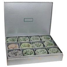 Steuben Set of 12 Bowls with Felt Bags and Box