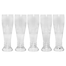 Queen Lace Set of 5 Pilsner Glasses