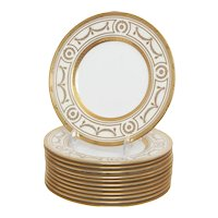 Set of 10 Minton for Tiffany Salad/Lunch plates