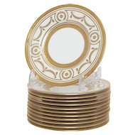 Set of 10 Minton for Tiffany Bread plates
