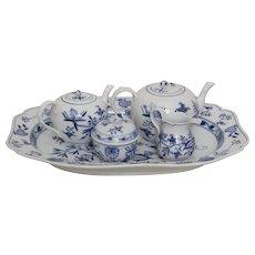 Eight Piece Meissen Blue Onion Pattern  Tea Set