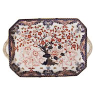 Royal Crown Derby Imari Rare Rectangular Tea Tray from 1877