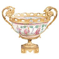Chinese Export Famille Rose Porcelain Bowl.  19th Century