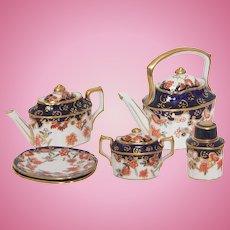 Miniature Royal Crown Derby Doll Imari Tea Set Circa 1939-1941