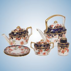 Miniature Royal Crown Derby Doll Imari Tea Set Circa 1939-1941