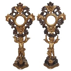 Pair of Antique Italian Reliquaries
