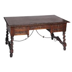 Antique Spanish Library Desk-19th Century