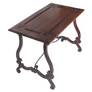 Spanish Baroque Style Side Table Circa 1920's.