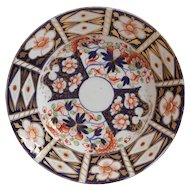Rare Royal Crown Derby Imari Plate by Stevenson and Hancock.  Circa 1830-1860