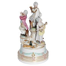 Figurine Statue with Quartet In the Style of Royal Vienna