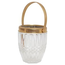 Antique Baccarat Ice Bucket with Gilt Encrusted Handle