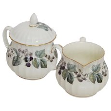 Royal Worcester Lavinia Cream and Sugar