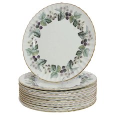 Royal Worcester Lavinia Set of 12 Dinner Plates