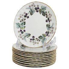Royal Worcester Lavinia Set of 11 Bread Plates