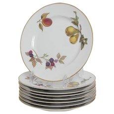 Royal Worcester Evesham Gold Pattern  8 Salad Plates