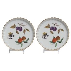 Royal Worcester Evesham Gold Pattern  Set of 2 pie/tart dishes