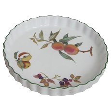 Royal Worcester Evesham Pattern  Pie Dish