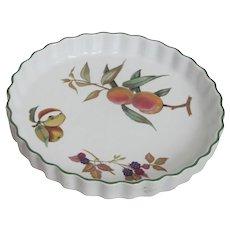 Royal Worcester Evesham Pattern  Pie Dish
