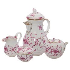 Meissen Purple Indian Tea Set