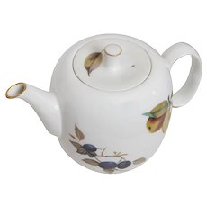 Royal Worcester Evesham Pattern  Tea Pot