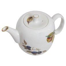 Royal Worcester Evesham Pattern  Tea Pot