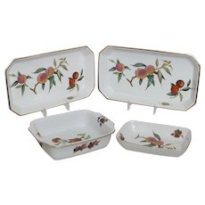 Royal Worcester Evesham Gold Pattern Set of 4 Baking Dishes