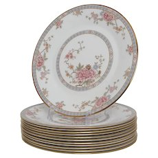 Set of 12 Royal Doulton Canton Salad Plates