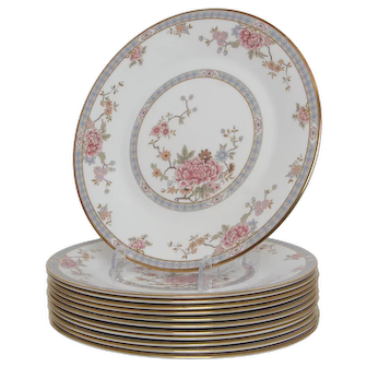 Set of 12 Royal Dolton Canton Dinner Plates