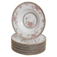 Set of 12 Royal Doulton Canton Soup Bowls
