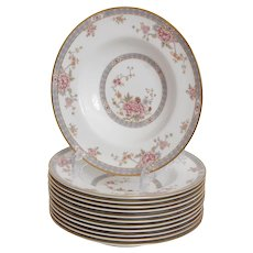Set of 12 Royal Doulton Canton Soup Bowls