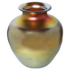 Signed Frederick Carder  Extra Large Steuben Gold Aurene #2693