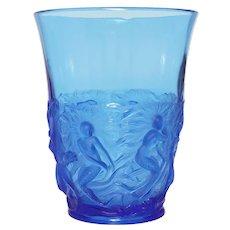 Blue French Verlys  Mermaid Vase