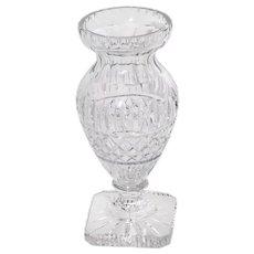 Signed Large Baccarat Cut Crystal Vase