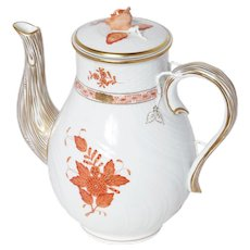 Herend Chinese Bouquet Rust Coffee Pot