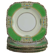 Set of 6 Minton Gilt Lunch/Salad Plates