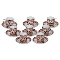 Royal Crown Derby Imari Set of 8 demitasse cups and saucers
