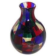Fulvio Bianconi Italian Venini Pezzato Vase, murano glass