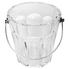 Baccarat Cut Crystal Ice Bucket with Bronze Handle