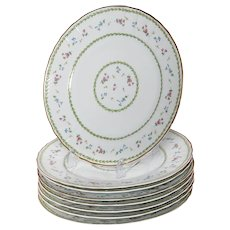 Limoges Bernaurdaud Artois  Set of 8 Porcelain Dinner Plates