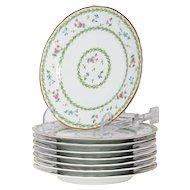 Limoges Bernaurdaud Artois  Set of 8 Porcelain Salad Dinner Plates