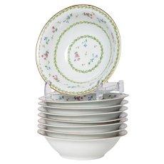 Limoges Bernaurdaud Artois  Set of 8 Porcelain Bowls